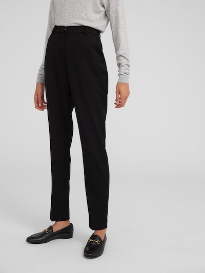 Pantaloni 'Magda' EDITED pe negru: Privire frontală