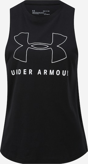 UNDER ARMOUR Sporttop 'SPORTSTYLE GRAPHIC MUSCLE' in de kleur Zwart / Wit, Productweergave