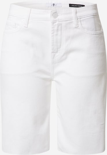 7 for all mankind Shorts in white denim, Produktansicht