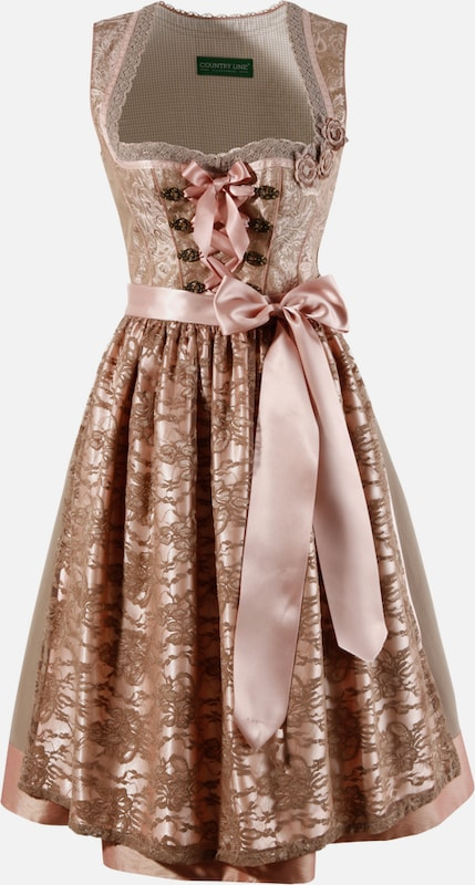 Country Line Dirndl Midi With Fine Lace Apron
