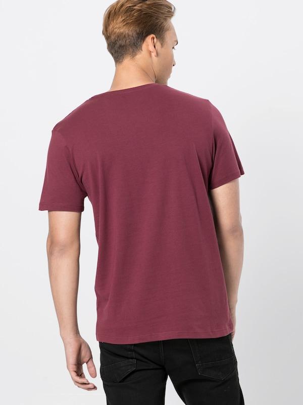 shirt CouleursLie Crew De Jackamp; 'jorautumn T Jones City En Vin Mélange Tee Neck' tQdrsh