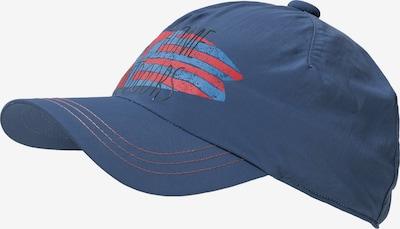 JACK WOLFSKIN Cap 'SUPPLEX SHORELINE' mit UV-Schutz in marine / himmelblau / rot, Produktansicht