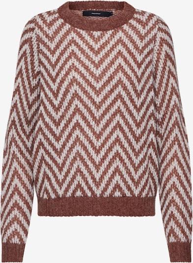 VERO MODA Pullover 'Clear' in creme / braun, Produktansicht