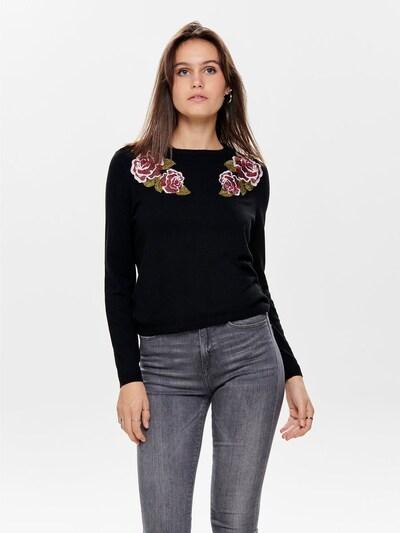 ONLY Pullover in rot / schwarz: Frontalansicht