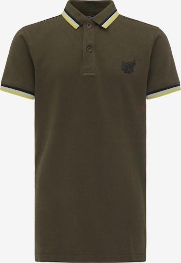 Petrol Industries Poloshirt in gelb / khaki / schwarz / weiß, Produktansicht