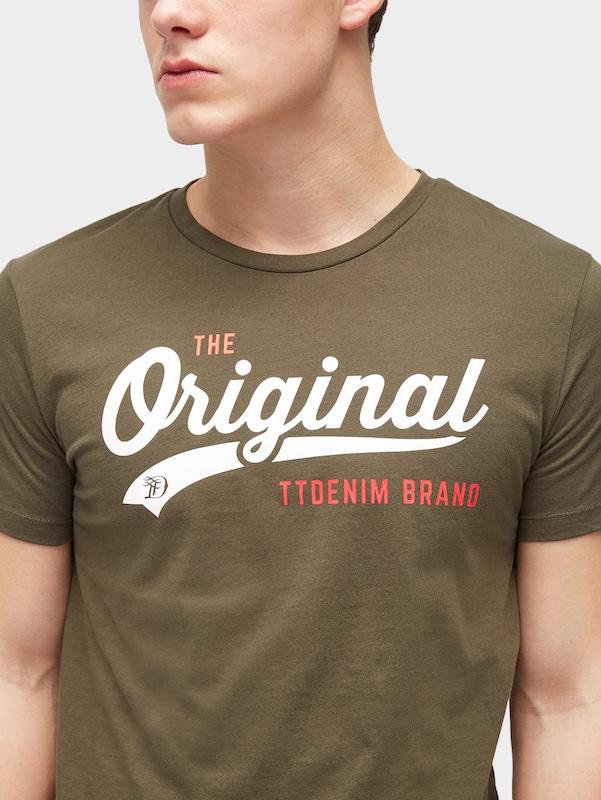 TOM TAILOR DENIM T-Shirt mit Logo-Motiv
