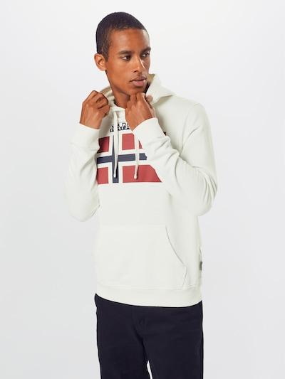 NAPAPIJRI Sweatshirt in navy / rot / weiß: Frontalansicht