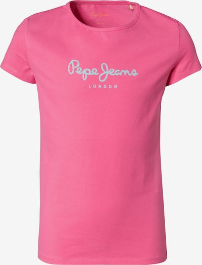 Pepe Jeans T-Shirt in silbergrau / pink, Produktansicht