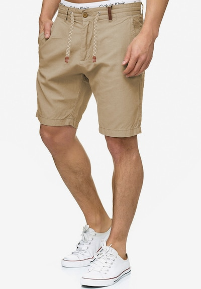 INDICODE JEANS Shorts 'Bowmanville' in sand: Frontalansicht