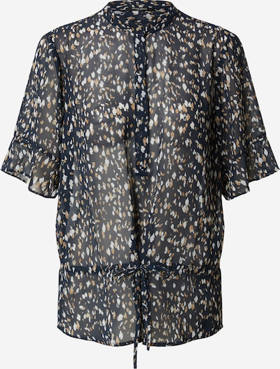 BRUUNS BAZAAR Chemisier 'Haze Beatrice Shirt' en bleu marine, Vue avec produit