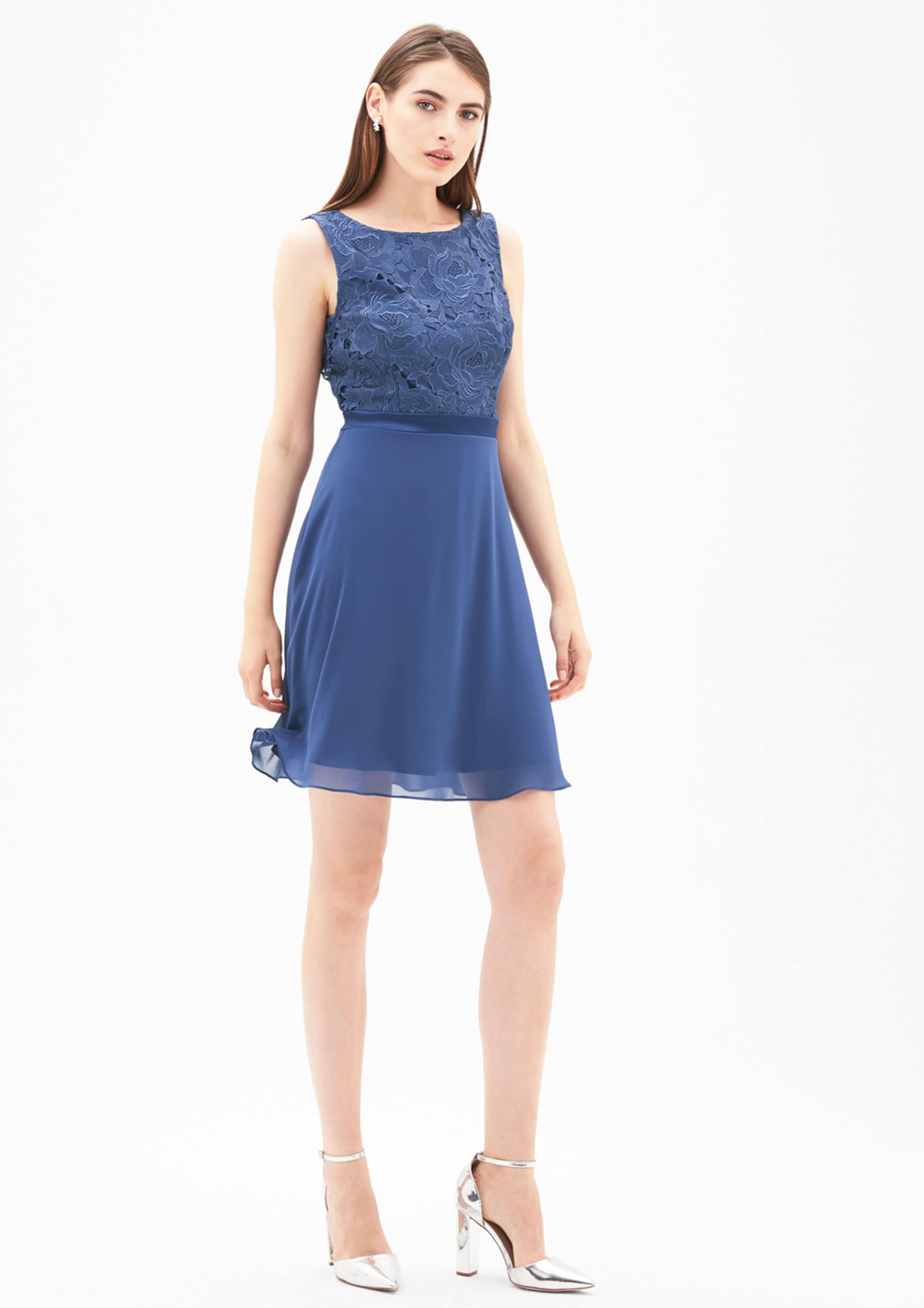 s.Oliver BLACK LABEL Kleid im edlen Fabric-Mix Steckdose Billig Authentisch Billig Footlocker Rabatt JbUnuZBh