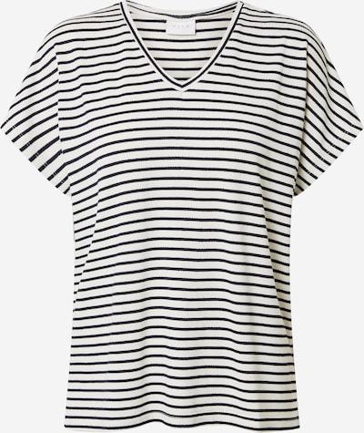 VILA T-shirt en bleu marine / blanc: Vue de face
