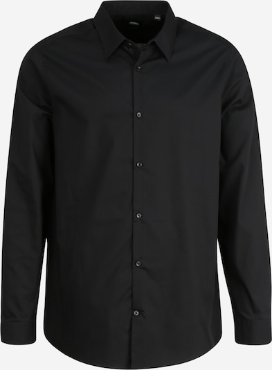 BURTON MENSWEAR LONDON (Big & Tall) Hemd in schwarz: Frontalansicht