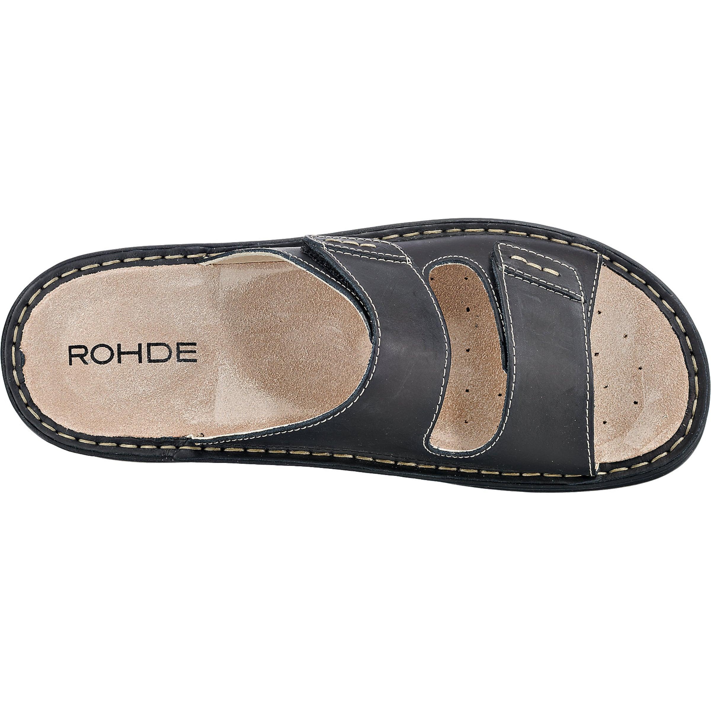 Rohde Pantoletten Schwarzmeliert In In Rohde Pantoletten Schwarzmeliert 435jARL