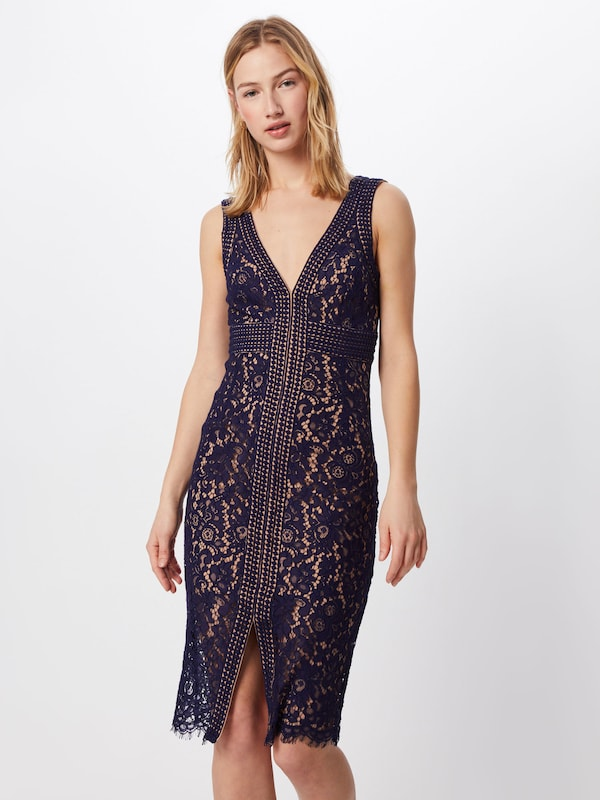 Bardot Cocktailkleid 'MORGAN' in navy, Modelansicht