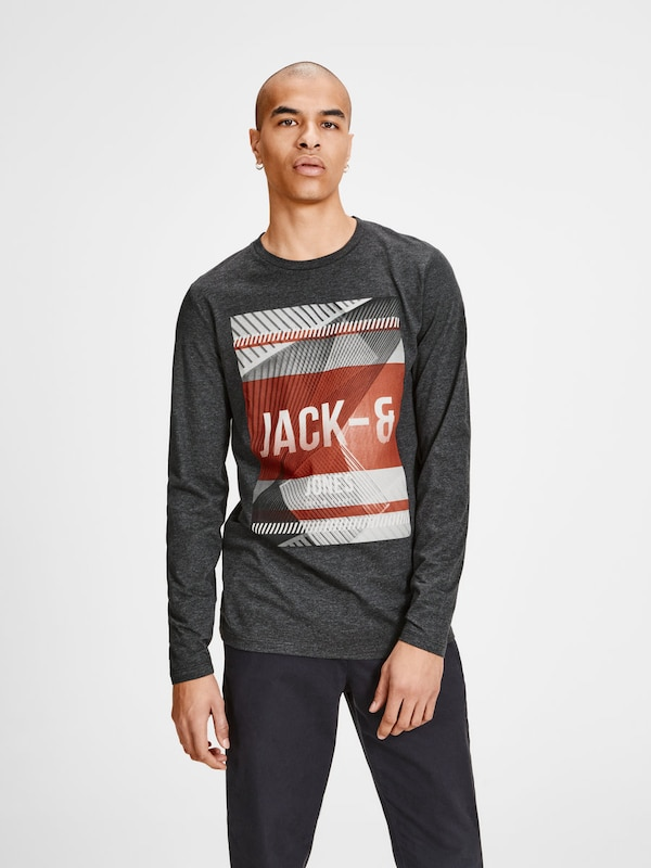 JACK & JONES T-Shirt mit langen Ärmeln Lässiges