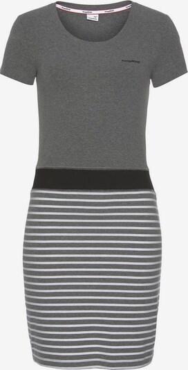 KangaROOS Kleid in graumeliert / schwarz / weiß, Produktansicht