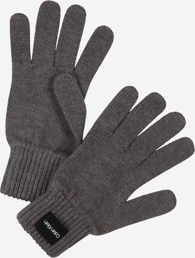 Calvin Klein Fingerhandschuhe in dunkelgrau: Frontalansicht