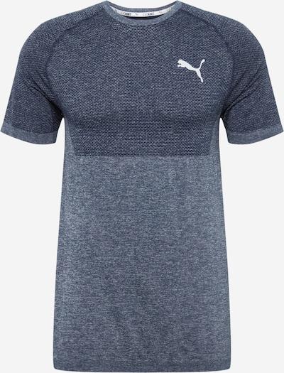 PUMA Shirt in taubenblau / dunkelblau / weiß, Produktansicht