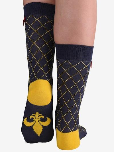 Tag SOCKS Sokken 'Multi Patterns' in de kleur Navy / Geel, Modelweergave