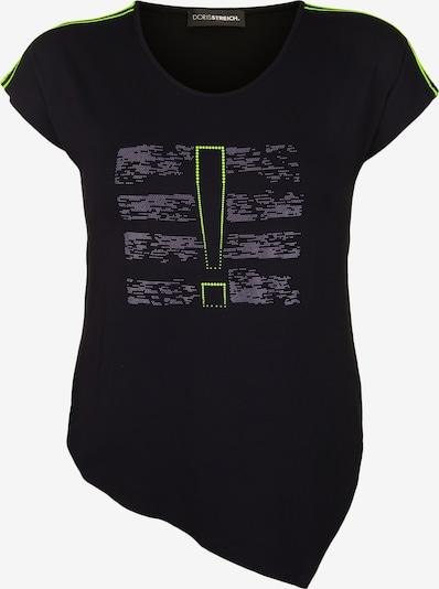 Doris Streich Shirt mit Mesh-Einsätzen in schwarz, Produktansicht