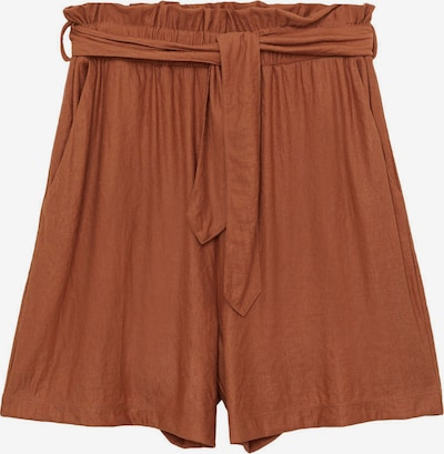 MANGO Kalhoty se sklady v pase 'DIAMANTE' - hnědá, Produkt