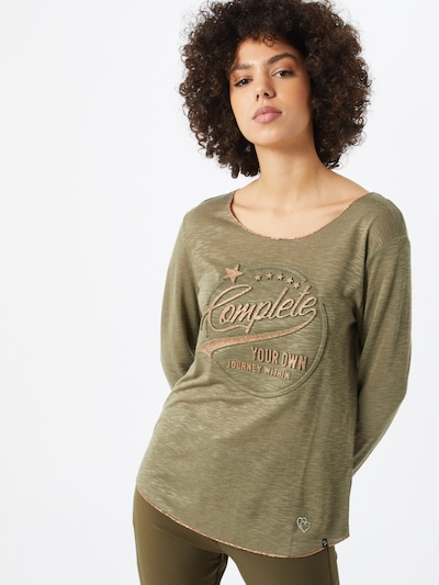 Key Largo Shirt 'WLS OWN' in khaki / mischfarben: Frontalansicht
