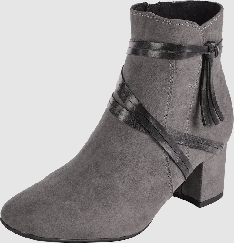 Marco Tozzi Ankle Boot With Decorative Ribbon