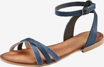LASCANA Strap Sandals in Blue