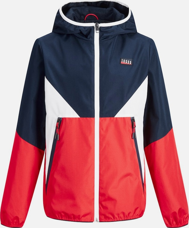 Jack & Jones Junior Jacke in nachtblau / rot / weiß, Produktansicht