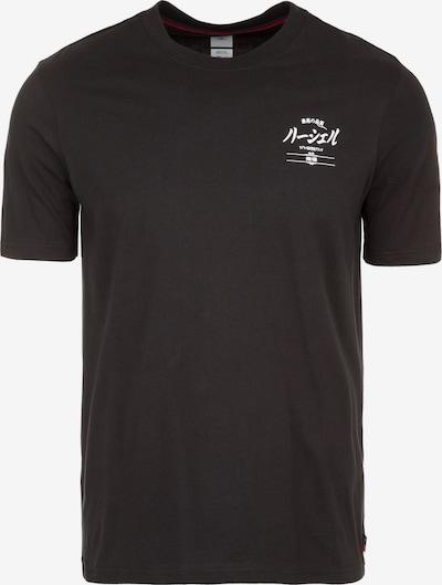 Herschel T-Shirt in schwarz / weiß, Produktansicht