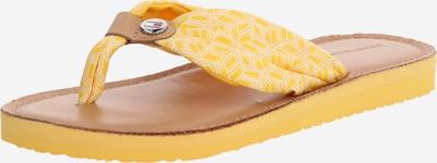 TOMMY HILFIGER Zehentrenner 'Monica' in gelb, Produktansicht