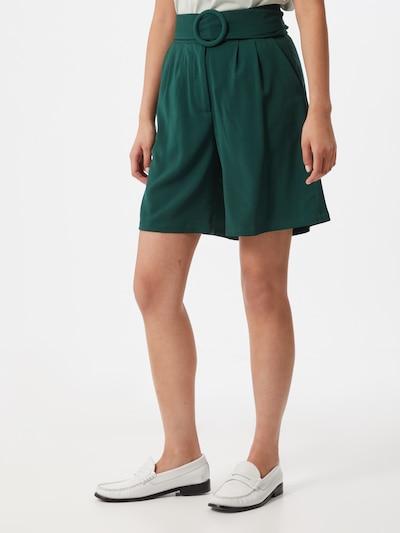 Unique21 Kalhoty se sklady v pase - tmavě zelená, Model/ka