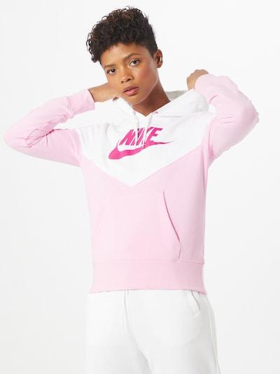 Nike Sportswear Sweat-shirt 'Heritage' en rose / blanc: Vue de face