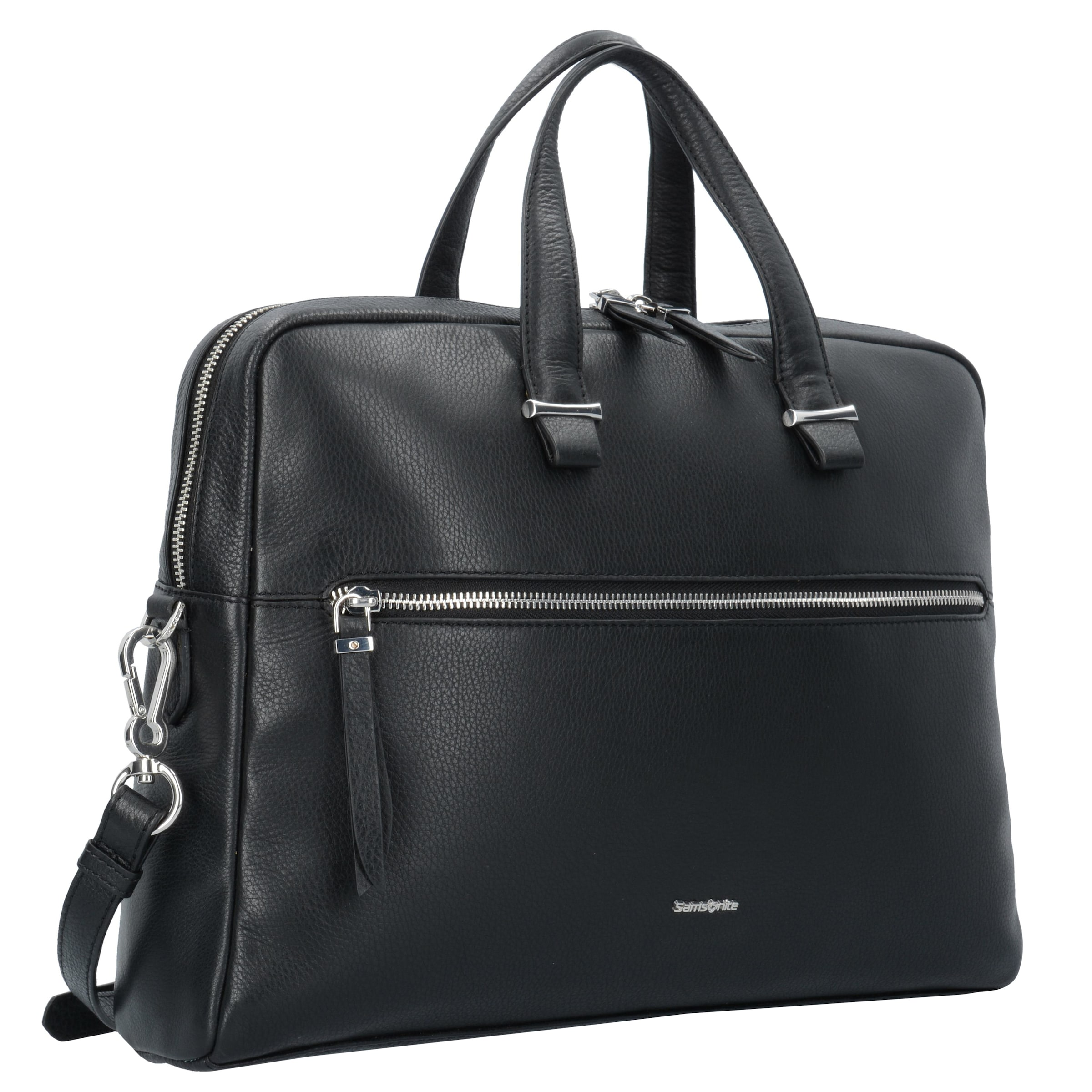 Cm Leder 39 Samsonite Highline Laptopfach In Aktentasche Schwarz Ii oeCBxd