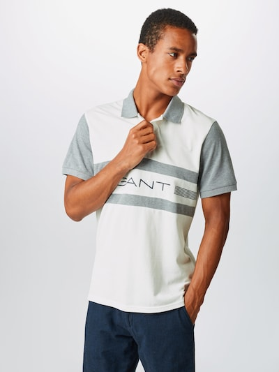 GANT Tričko - sivá / biela: Pohľad spredu