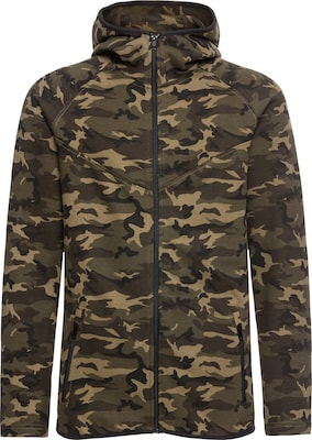 Urban Classics Jacke 'Interlock Camo Zip Jacket'