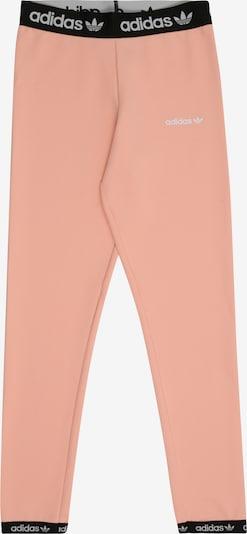 ADIDAS ORIGINALS Hosen 'POLY' in rosa / schwarz / weiß: Frontalansicht