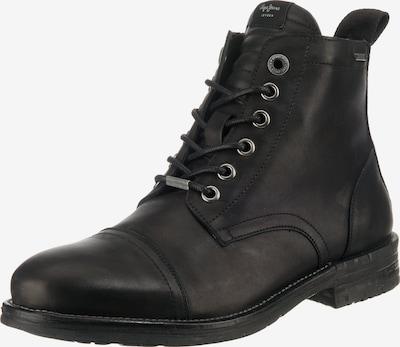 Pepe Jeans Schnürstiefeletten 'Tom Cut' in schwarz: Frontalansicht