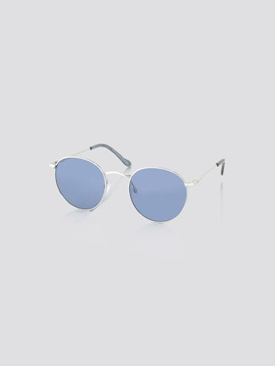 TOM TAILOR DENIM Zonnebril in de kleur Blauw / Grijs / Zilver, Productweergave