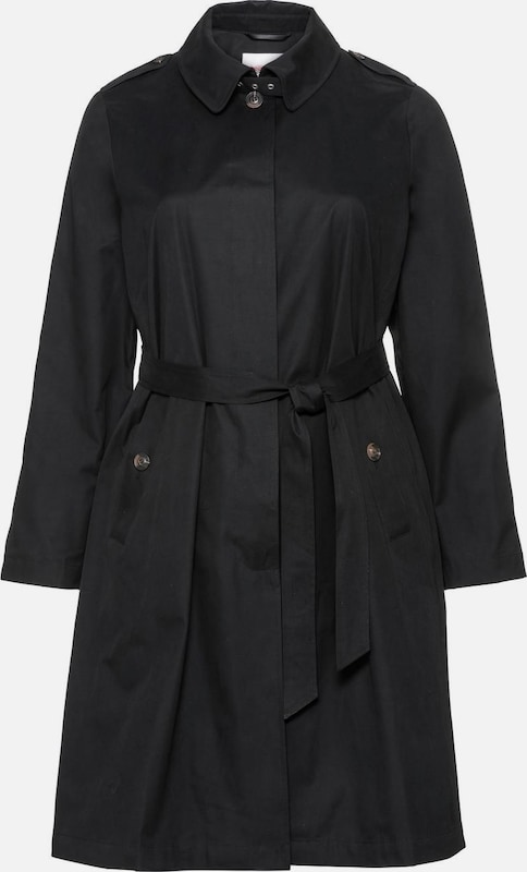 SHEEGO Trenchcoat in schwarz: Frontalansicht