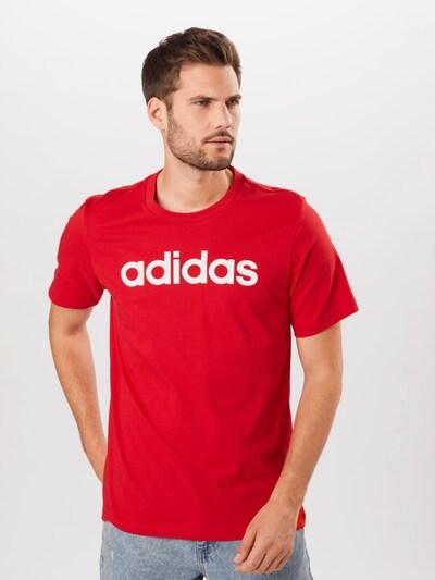 ADIDAS PERFORMANCE Shirt in rot / weiß, Modelansicht