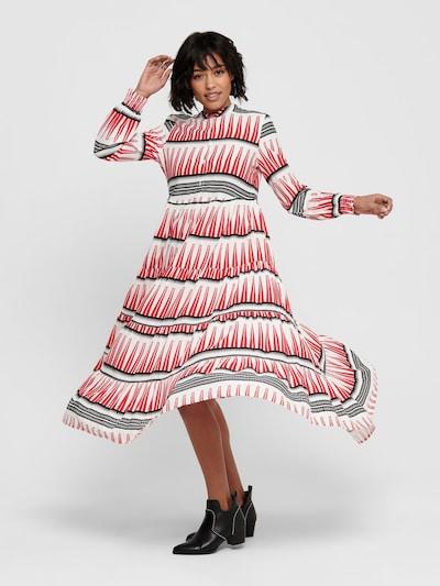 ONLY Košilové šaty 'ONLLUCCA' - červená / černá / bílá, Model/ka