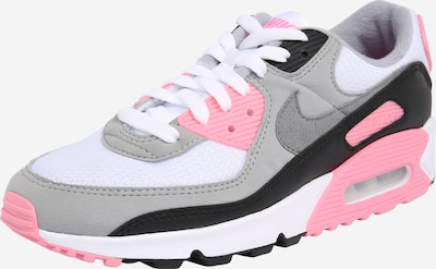 Nike Sportswear Baskets basses 'Nike Air Max 90' en gris / rose / blanc, Vue avec produit