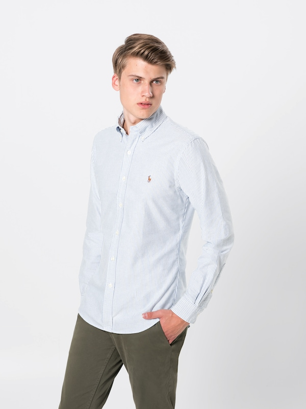 Ralph sport Sleeve Shirt' Ppc Hemd Lauren Wei long 'sl Bd Blau Sp Polo d8RzFxwqad