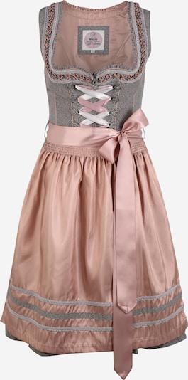 MARJO Dirndl 'Silvie' en gris clair / gris chiné / rose ancienne, Vue avec produit