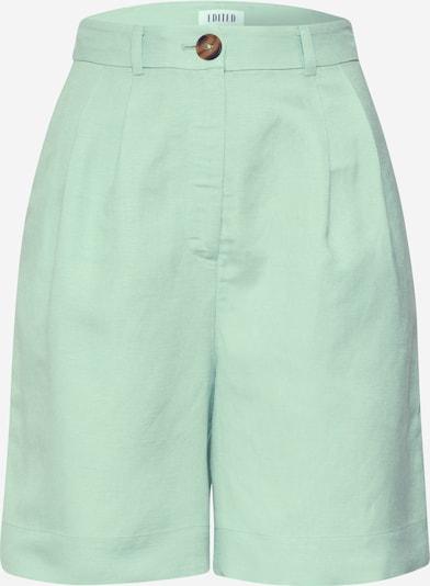 EDITED Kalhoty se sklady v pase 'Joanie' - tyrkysová / zelená, Produkt