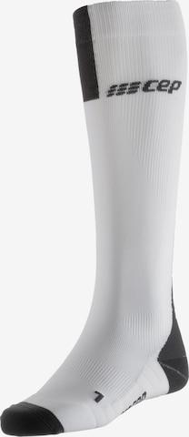 CEP Kompressionsstrümpfe 'Run Socks 3.0' in Weiß