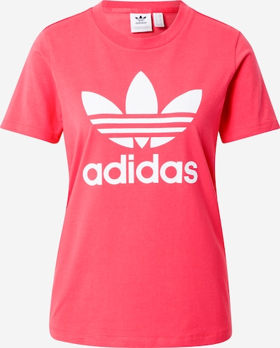 ADIDAS ORIGINALS T-Shirt 'Trefoil' in dunkelpink / weiß, Produktansicht