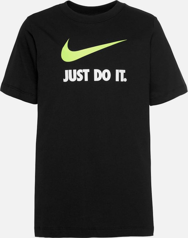 Nike Sportswear Shirt 'Just do it Swoosh' in schwarz, Produktansicht